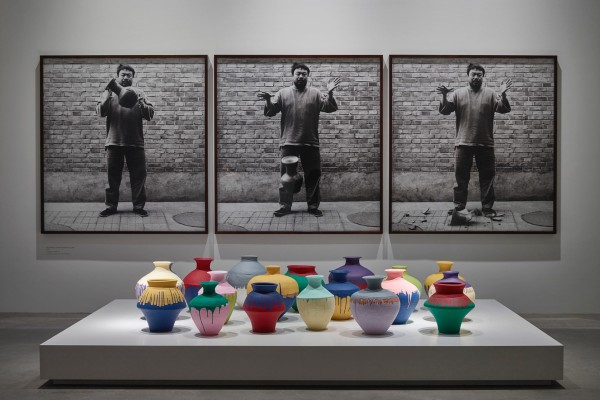 Installation view of artwork 'Colored Vases'